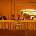 Mesa con la participación de C. Crisorio y H. López