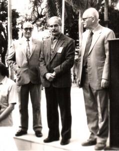 """La Habana, Encuentro sobre """"La Ilustración"""", 1983, Arturo Roig junto a Salvador Morales y Jorge Núñez"""